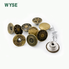 Brass movable jeans button