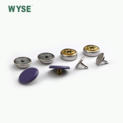 Enamel purple ingraved logo alloy snap button