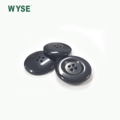 4H polyester solid button