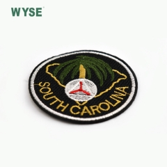 Factory custom round shape embroidery patch