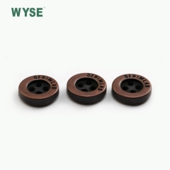 metal cheap anti copper design concave logo alloy sewing four holes button