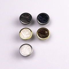 New style denim custom alloy combine polyester nylon insert jeans button