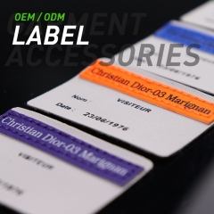 Oxford cloth label in clothing and other cloth accessories can print logo or design pattern Oxford cloth label