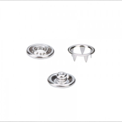 Prong snap button metal high foot round five-claw four-piece set of buttons invisible and hidden buttons for infants