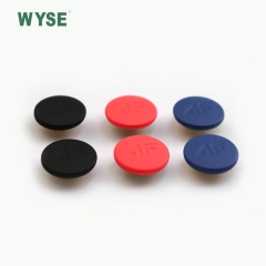 Custom made engraved logo colorful rubber painted spring snap button