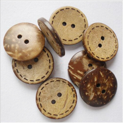 2021 new style 2 holes and 4 holes shank Coconut buttons for shirt and coat resin button