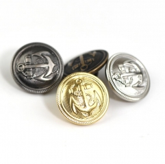 fashionable customized made Metal Plated Gold finish Brass Shank Button