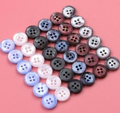 High Quality Round 4 Holes Eco-friendly Resin Pearl Imitation Button For Shirt Clothes