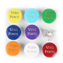 Wholesale Manufacture Colorful Custom Logo Decorative Round Brass Jeans Button For Clothes