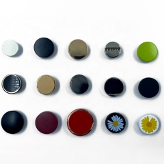 Wholesale Direct High Quality Custom Logo Color Snap Button Snap Fastener For Jeans Garment