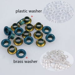 Garment accessories Custom eyelet Metal brass Eyelets Grommets with Eyelets Machine for Bags Belt shoes Swimsuits