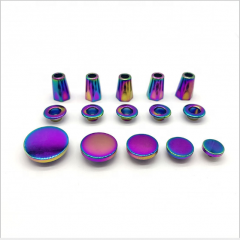 Manufacturers wholesale High Quality Fancy Custom Colorful Round Metal 4 Part Spring Snap Button or Stopper Eyelets For Clothes