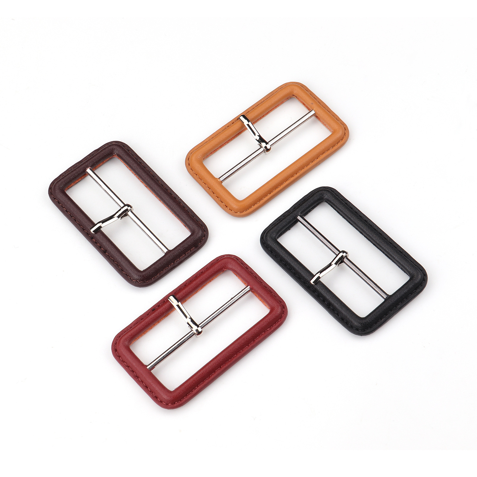 Wholesale 2021 New Decorative Colorful Leather Covered Buckle Belt Buckle for Garment