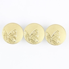 Manufacturer Custom Butterfly Shank Button 17mm Jeans Button for Garment