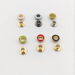 Wholesale Fancy high-quality variety custom Paint print logo Combined plane Metal brass eyelet grommet for garments shoes bags