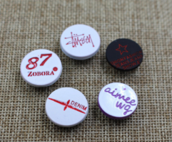 2021 Popular Manufacturers Wholesale Metal Custom Logo two tone colors denim jeans tack buttons for jeans coat and pants