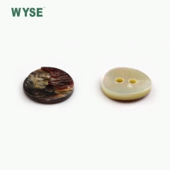 WYSE Wholesale custom decorative two hole round natural agoya shell button for shirt clothing
